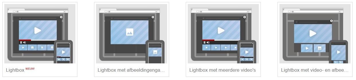 Soorten Lightbox ads