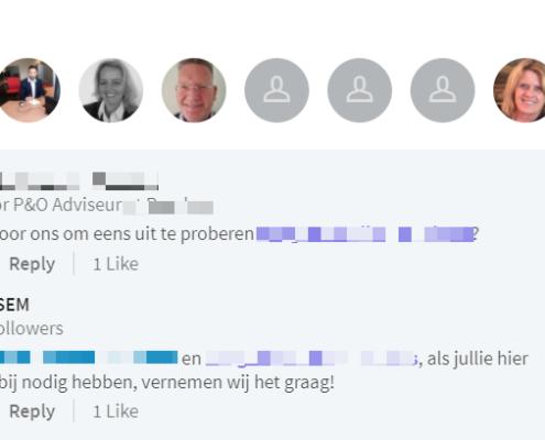 Linkedin Advertentie Reactie