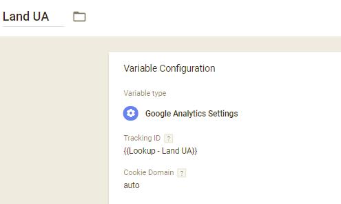UA per land - Google Tag Manager GTM