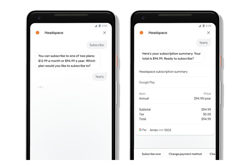 Google Assistant voor diensten