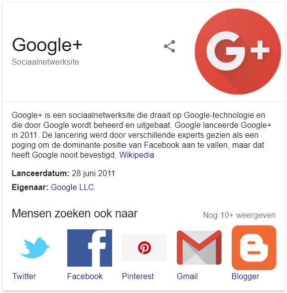 Google+ stopt definitief