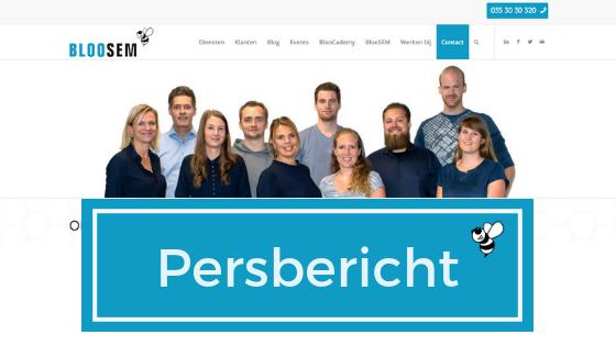 Persbericht nieuwe website