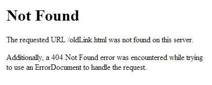 Standaard 404 melding