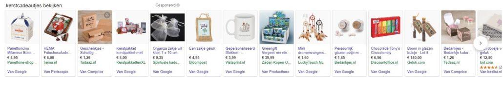 Kerst cadeaus Shopping