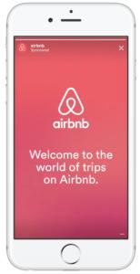 Story voorbeeld Airbnb