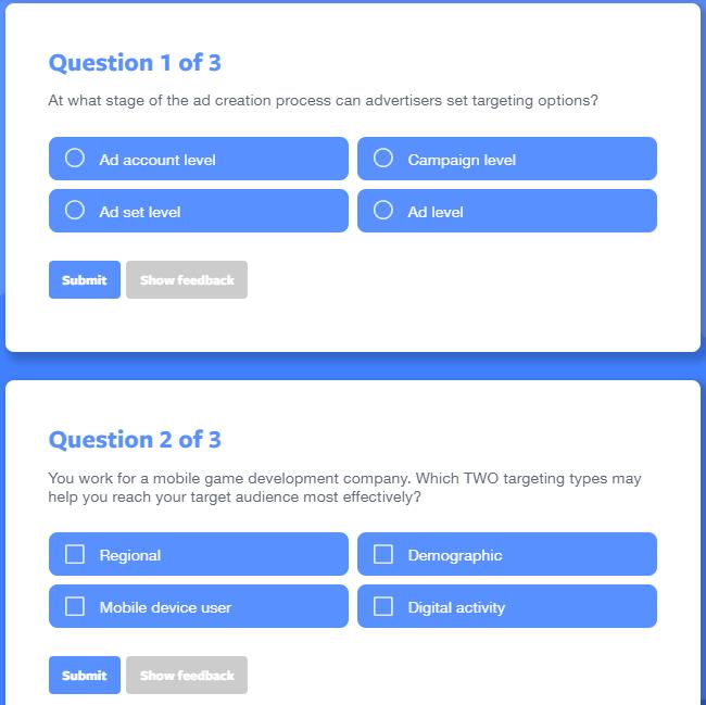 FB Blueprint E-learning vragen
