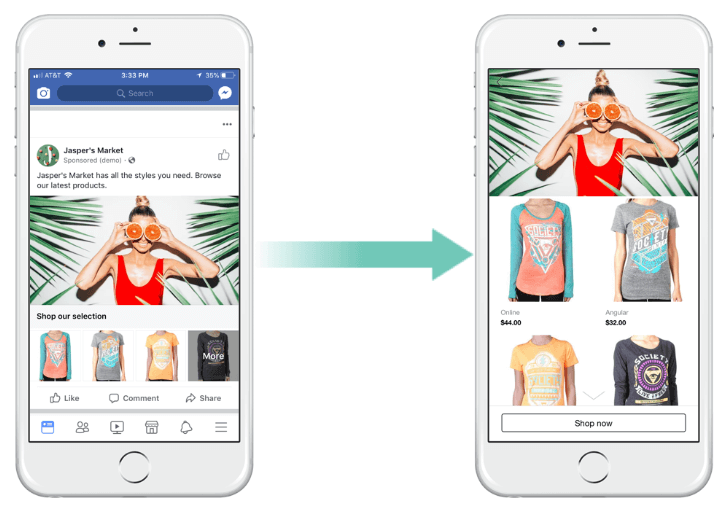 Facebook Collaborative Ads; merk en e-commerce werken samen