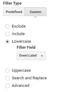 Lowercase filter